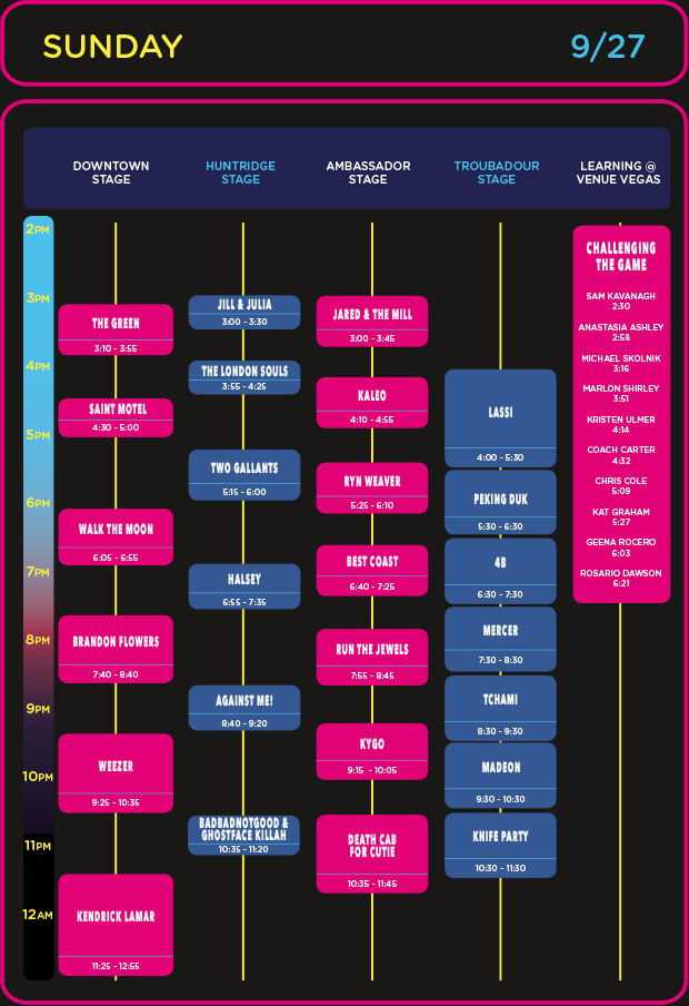 Life is Beautiful 2015 Set Times Festival Map Announced