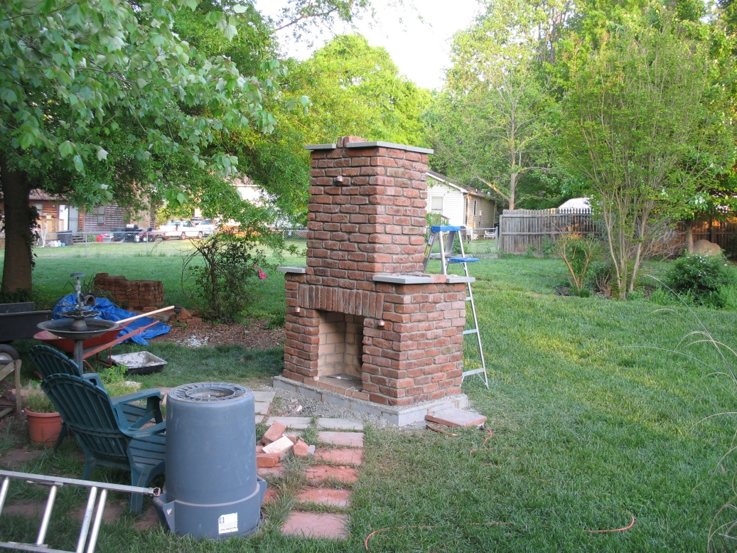 outdoor brick fireplace diy i kind of like the two bricks
