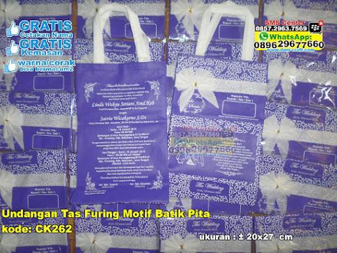 Undangan Tas Furing Motif Batik Pita murah