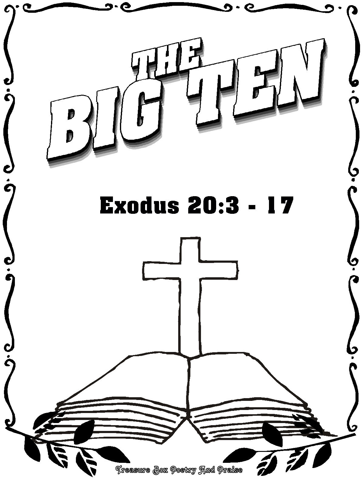 10 commandments coloring pages children
