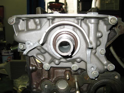 Oil pump installed on engine rebuild