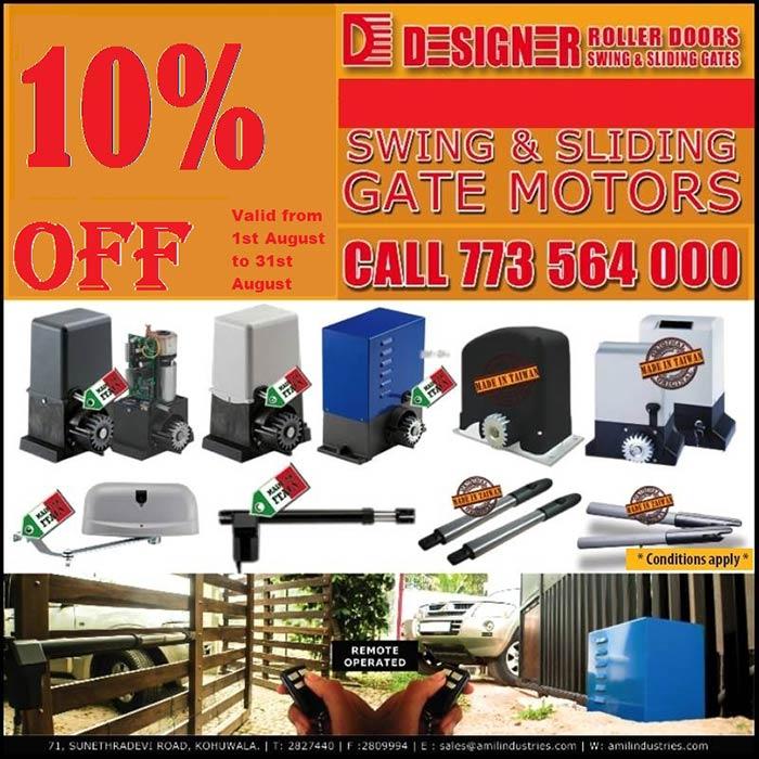 10 % off for Sliding/Swing Gate Motors