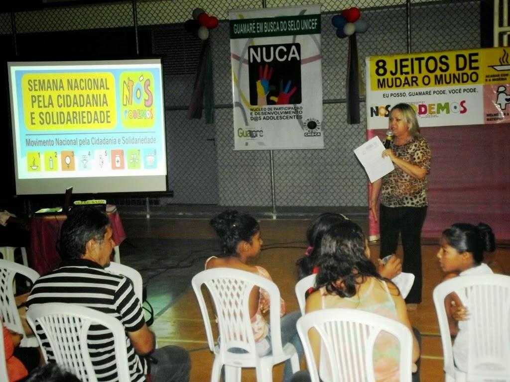 PREFEITURA DE GUAMARÉ REALIZA EVENTO ALUSIVO A SEMANA NACIONAL PELA CIDADANIA E SOLIDARIEDADE