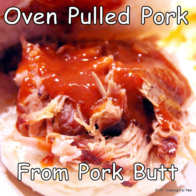 Oven Pulled Pork from Pork Butt from 101 Cooking For Two