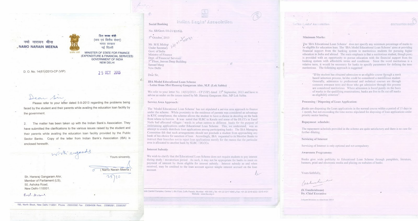 Application letter for education loan