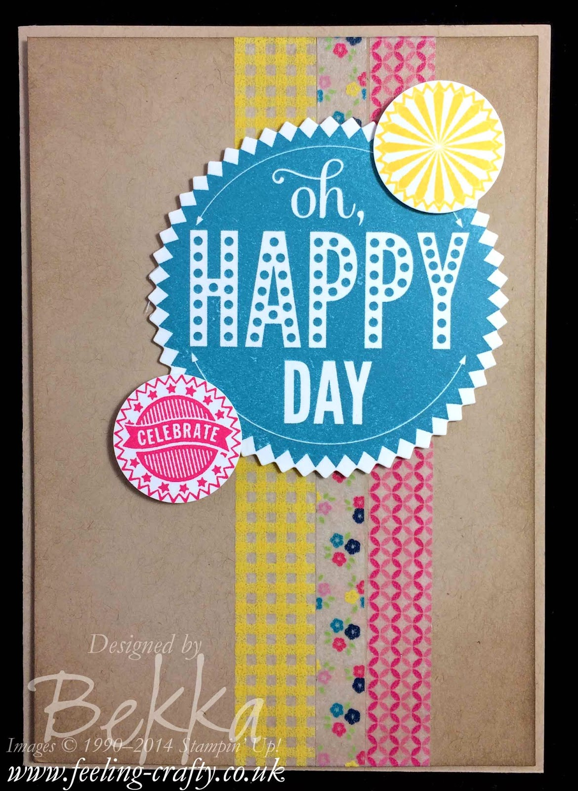 Starburst Sayings Birthday Card by Stampin' Up! UK Independent Demonstrator Bekka Prideaux - buy Stampin' Up! here