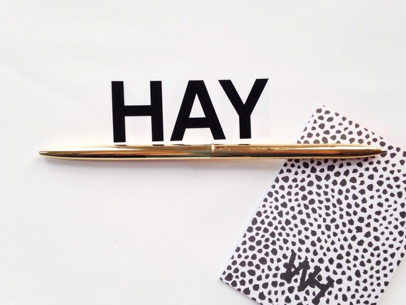HAY dk gold Bullet Pen