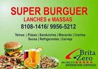 SUPER BURGUER LANCHES E MASSAS DISK ENTREGAS 8108-1416OU 9956-5212 ,pizza grande só 22,00 reais