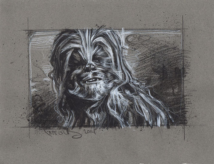 Chewbacca from Star Wars, Artwork Copyright © 2014 Jeff Lafferty