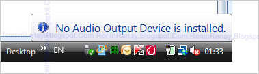 how to fix no audio output device is installed vista