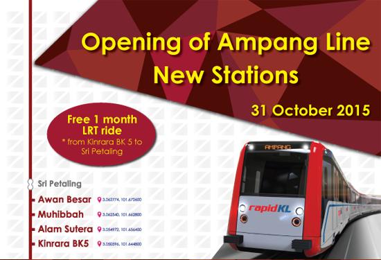 Tambang Percuma Sebulan LRT Sri Petaling - Kinrara BK5