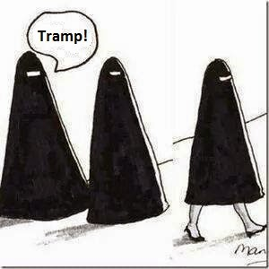 Funny Muslim Tramp Cartoon Picture