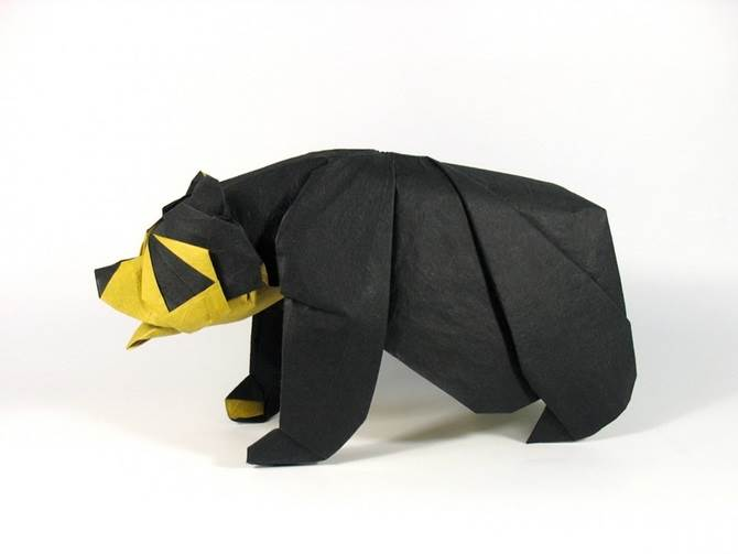 origami beruang hitam