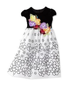 MyHabit: Girls Dress Deals: C'est Chouette Couture Fantasia Dress - Blooming  with fantasy and flair, elegant velvet bodice with beautiful, beaded  floral appliqués, taffeta skirt, back zipper and adjustable tie