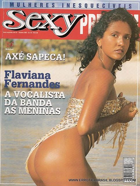 Confira as fotos da vocalista da banda As Meninas, Flaviana Fernandes, capa de Sexy  Premium de outubro de 2003!