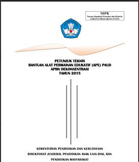 Download Petunjuk Teknis Penyaluran Dana Bantuan Operasional Sekolah PAUD 2015
