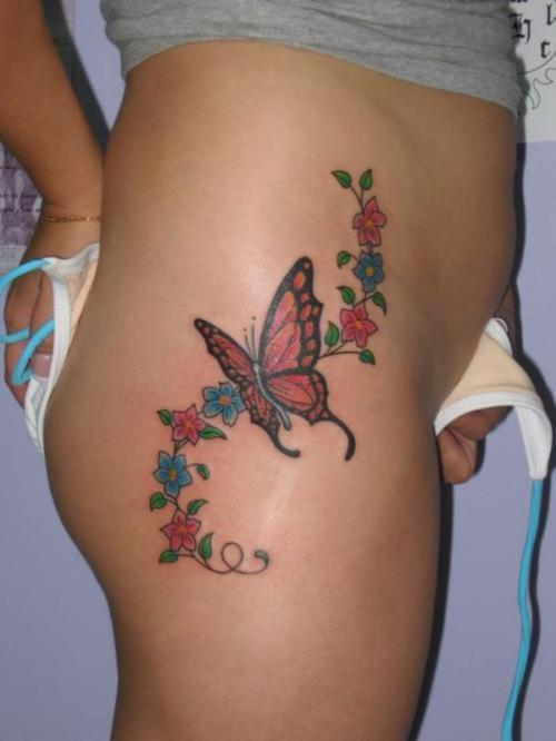Sexy butterfly tattoo
