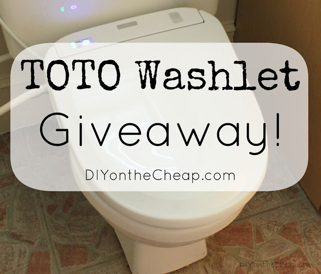 TOTO Washlet Giveaway via DIYontheCheap.com
