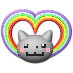 Nyan Cat Heart Icon