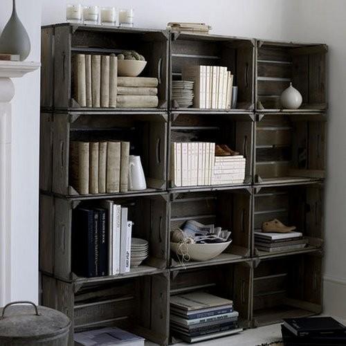 dishfunctional designs vintage wood crates upcycled. Black Bedroom Furniture Sets. Home Design Ideas