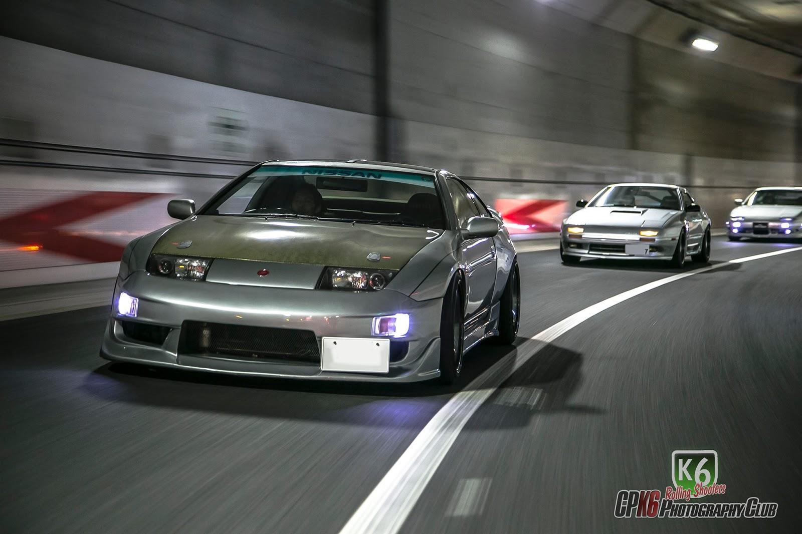 Nissan Fairlady Z Z32 (300ZX), Mazda RX-7 FC, rasowe sportowe samochody, japońskie fury, auta po tuningu, Japonia, JDM, tunel, fotki, galeria zdjęć, wankel, rotary