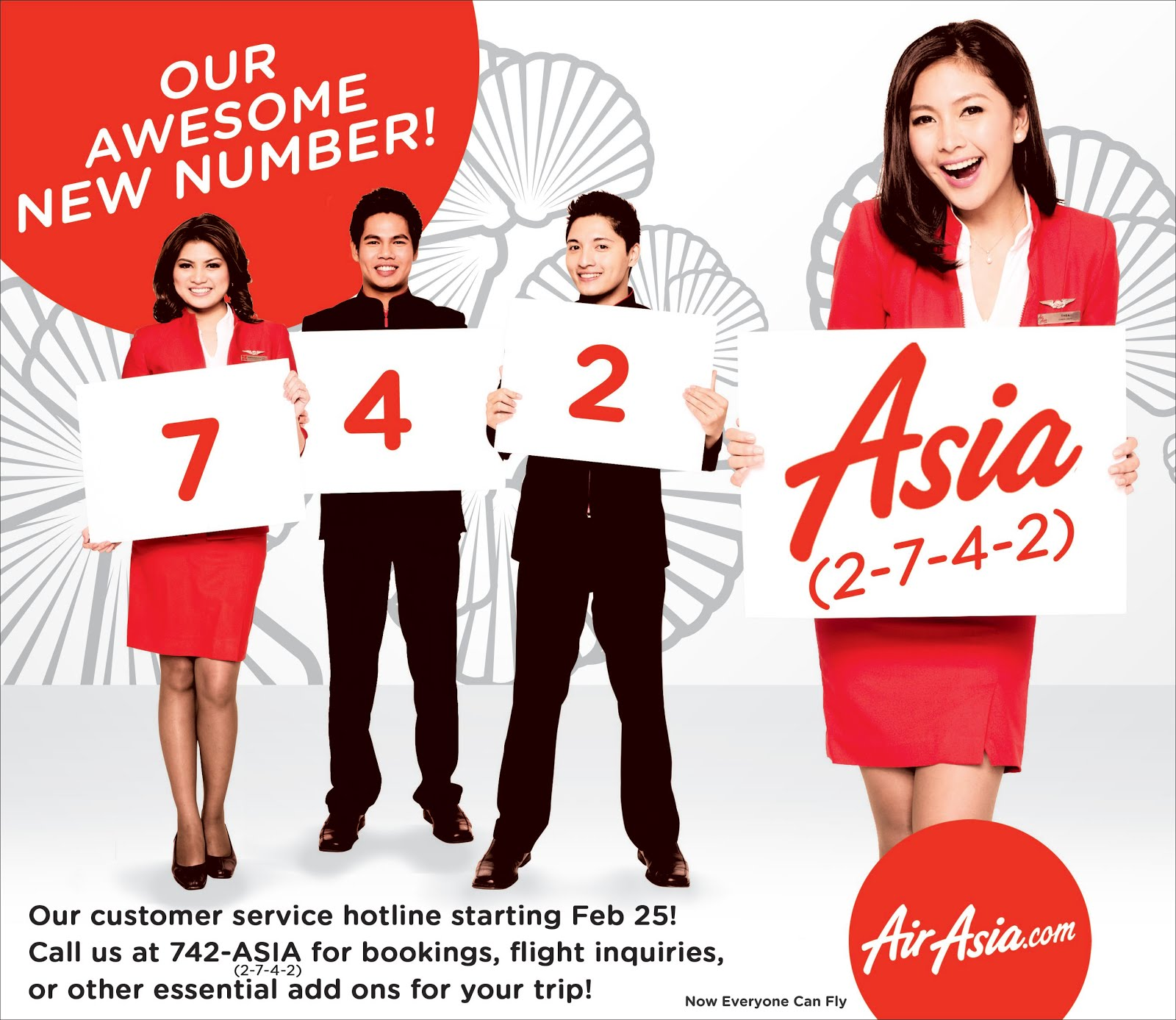 Philippines' AirAsia customer hotline 742-ASIA and now accept ...