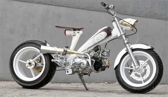 modifikasi motor honda astrea terkeren