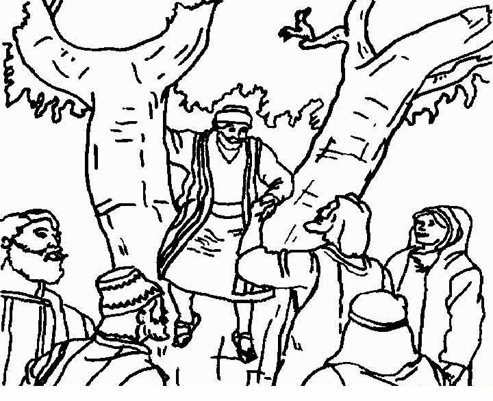 Imagenes Cristianas Para Colorear: Dibujos Para Colorear De Zaqueo
