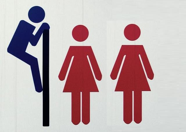 Banheiro Feminino Atitudes em um relacionamento -> Homens Banheiro Feminino