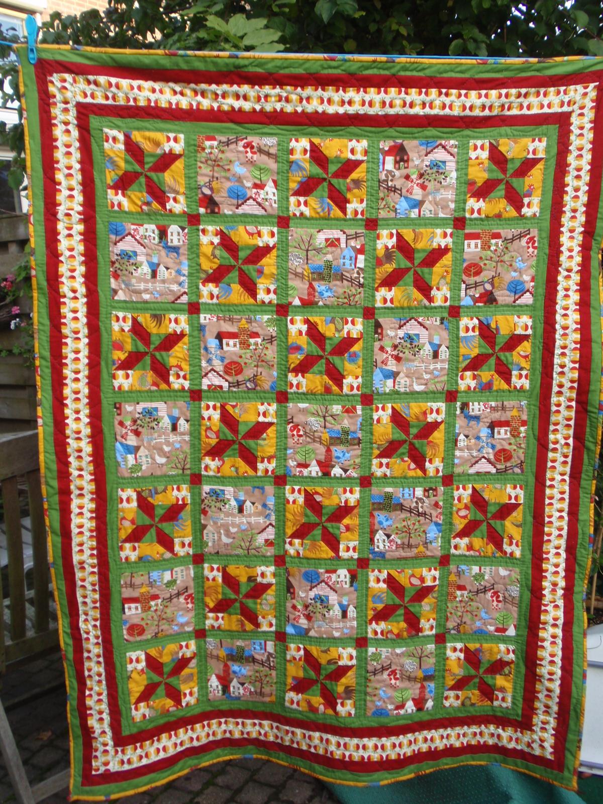 Quiltdingen enzo farm friends is af - Quilts gele ...