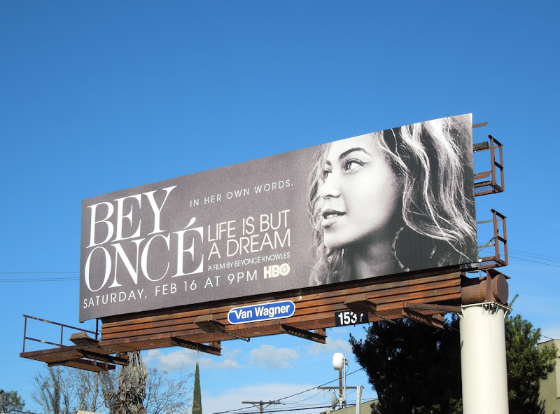 Beyoncé Life is but a Dream HBO movie billboard