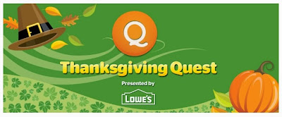 Viggle, Thanksgiving Quest, Viggle Mom, Viggle Bonus, Lowe's