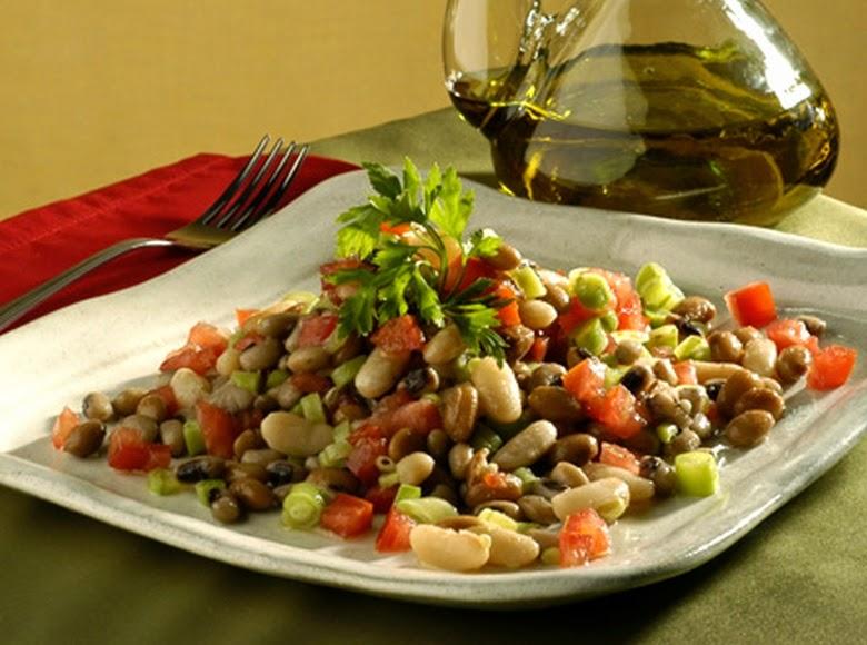 Salada de Três Feijões (vegana)