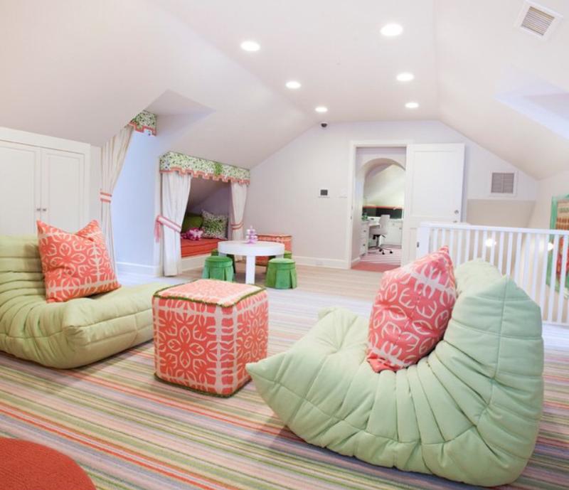 Gambar hiasan bilik tidur untuk kanak kanak diana rashid for Teenage girl attic bedroom ideas