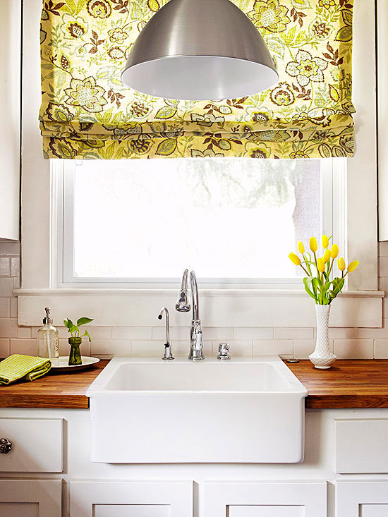 2014 kitchen window treatments ideas decorating idea for Best window treatments for kitchens