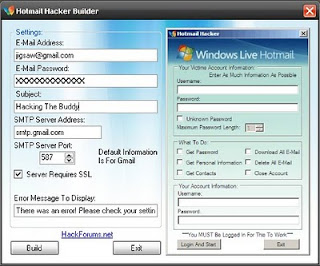 Hotmail Account Hacker