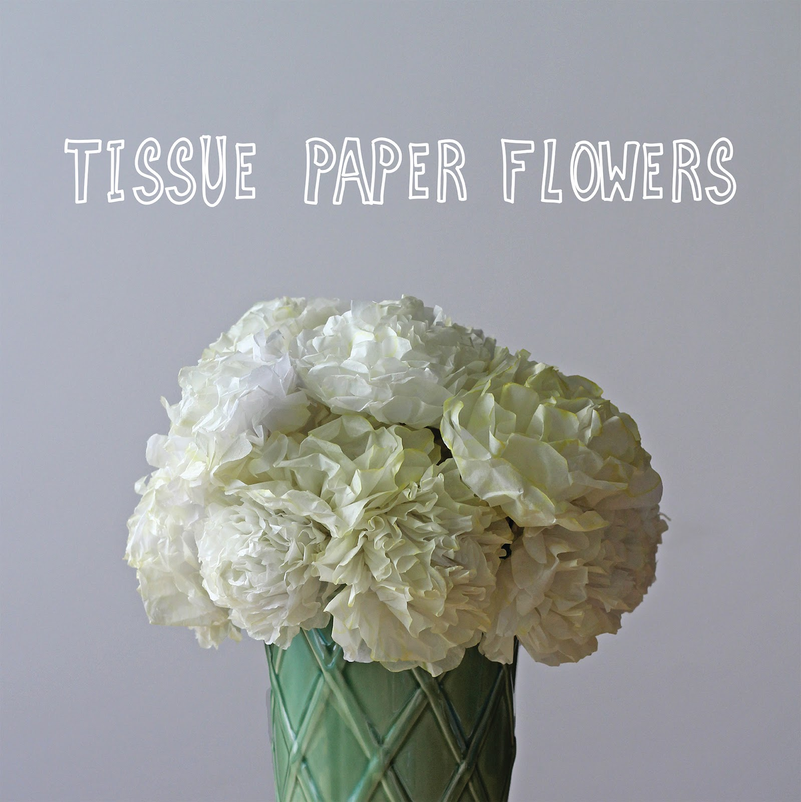We Can Make Anything Tissue Paper Flowers