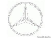 Kids Coloring Mercedes Logo