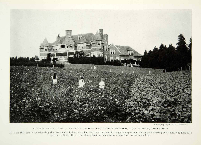 Alexander Graham Bell Beinn Bhreagh Baddeck Nova Scotia Mansion 1922