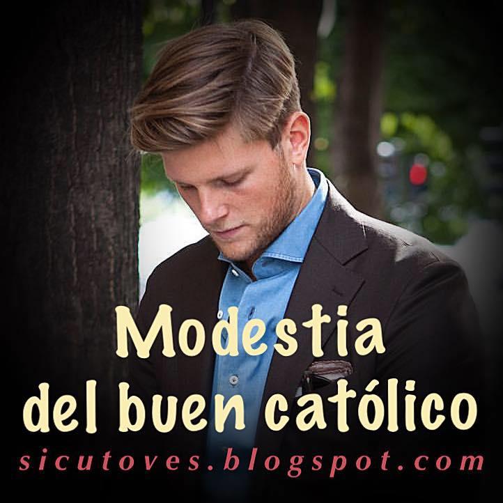 Página dedicada a la modestia del varón católico
