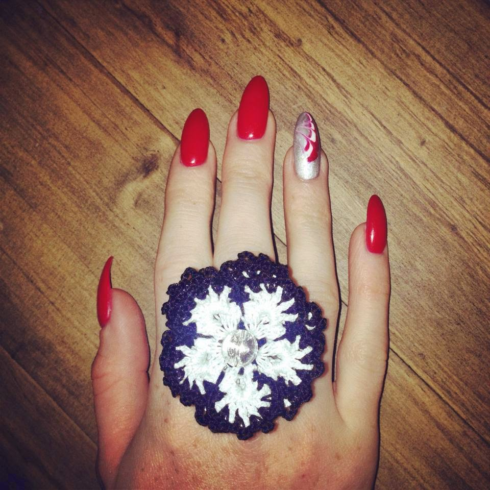 Bec Boop Crochet Ring