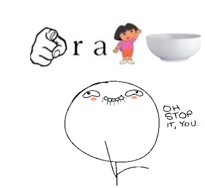 your a dora bowl meme