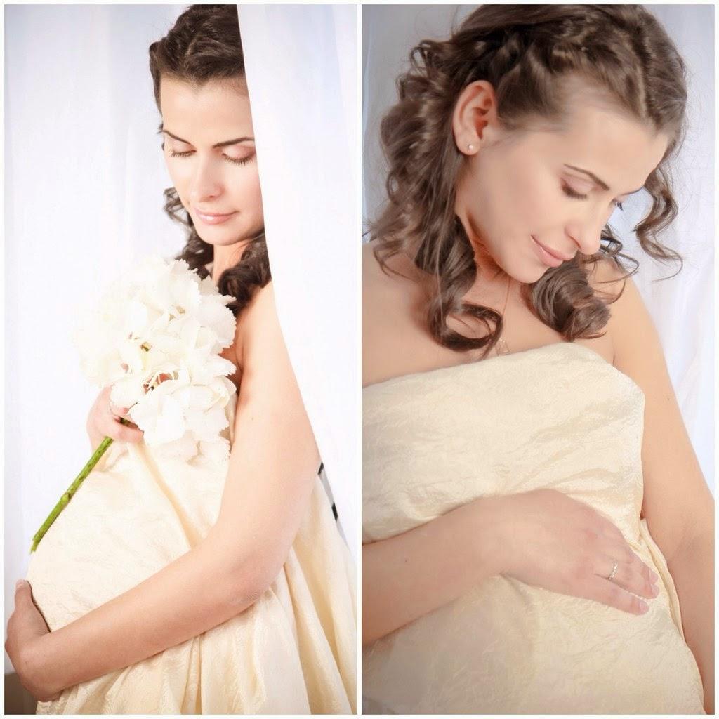 Макияж и прическа для беременной фото