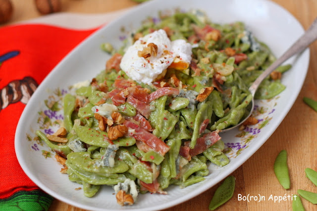 Makaron z gorgonzolą i szynką parmeńską