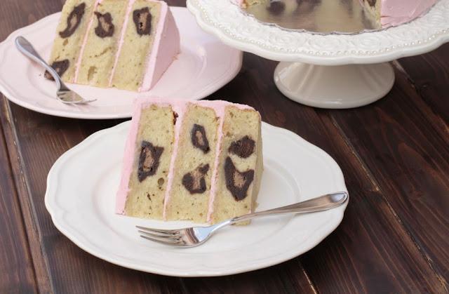 Una PERFECTA leopard print cake!!