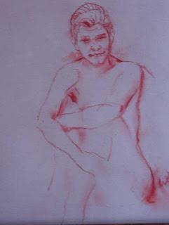 chica desnuda, sentada, dibujos de desnudos, mujer desnuda