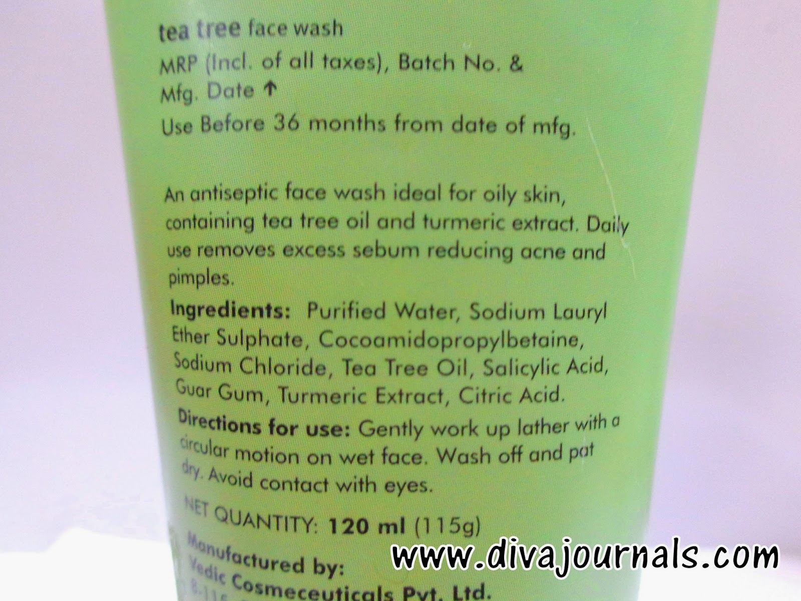 FabIndia Tea Tree Face Wash Review