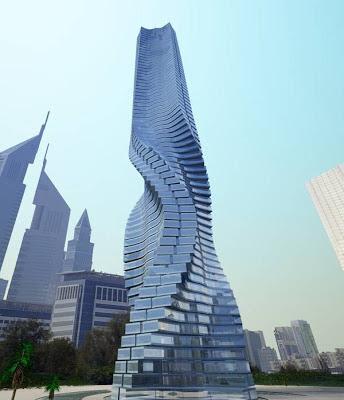Torre Giratoria (Dubai, Emiratos Árabes). los edificios mas extraños del mundo. edificios extraños. lugares sorprendentes