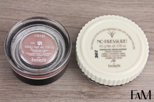 Benefit Creaseless cream No Pressure rsvp Swatches review beauty blog futilitiesandmore futilities and more