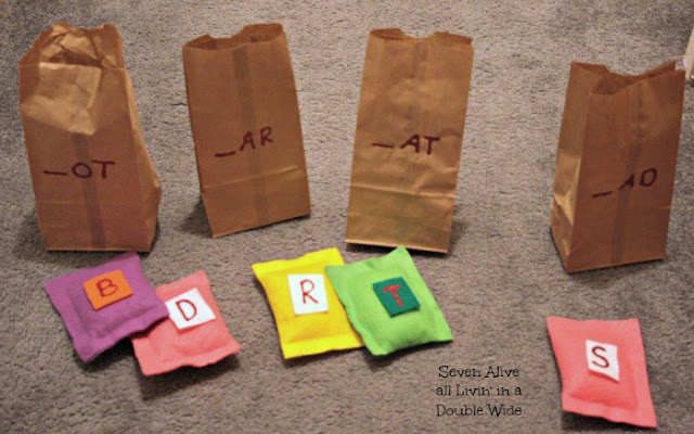 Rhyming Words Game with No Sew Bean Bags